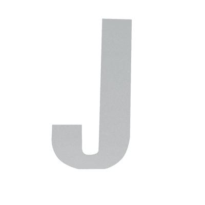 Lettera J adesivo, 3 x 2 cm