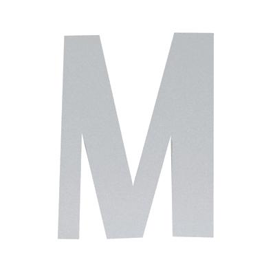 Lettera M adesivo, 5 x 3.5 cm