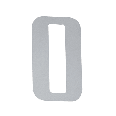 Lettera O adesivo, 7.5 x 5 cm
