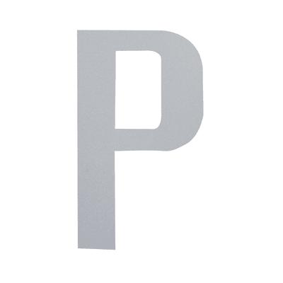 Lettera P adesivo, 7.5 x 5 cm