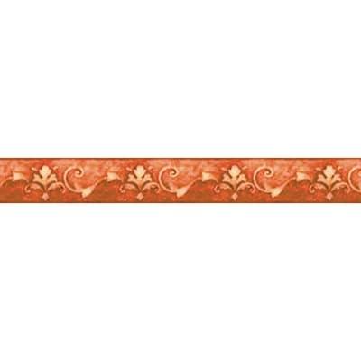 Bordo Giglio arancio / ramato 9.5 cm x 5 m