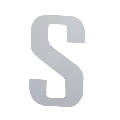 Lettera S adesivo, 3 x 2 cm