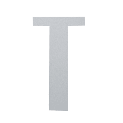 Lettera T adesivo, 7.5 x 5 cm