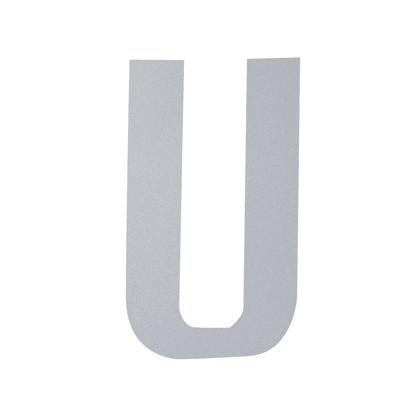 Lettera U adesivo, 15 x 10 cm
