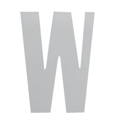 Lettera W adesivo, 15 x 10 cm