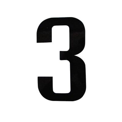 Numero 3 adesivo, 7.5 x 5 cm
