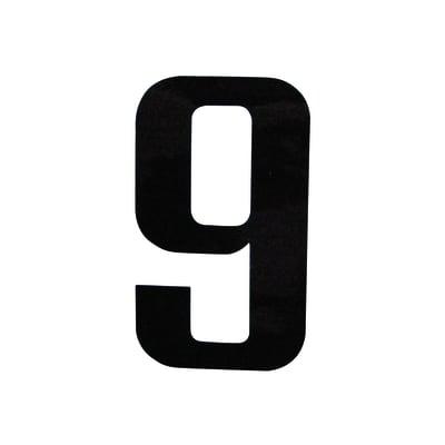 Numero 9 adesivo, 10 x 6 cm
