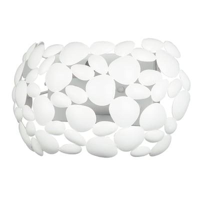 Applique Dioniso bianco, in acciaio, E14 2xMAX28W IP20