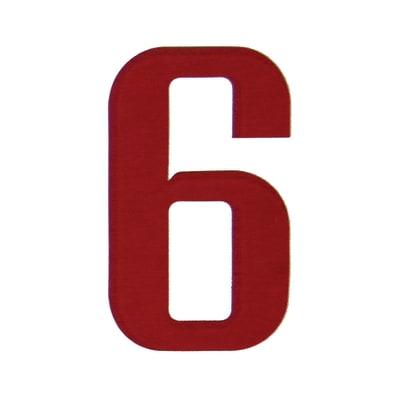 Numero 6 adesivo, 10 x 6 cm