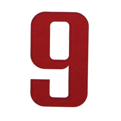 Numero 9 adesivo, 5 x 3.5 cm
