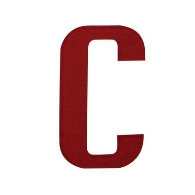 Lettera C adesivo, 7.5 x 5 cm