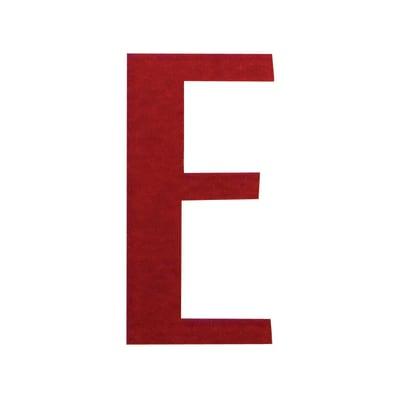 Lettera E adesivo, 3 x 2 cm