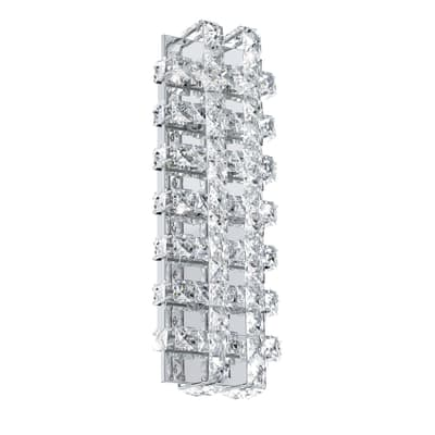 Applique Lonzaso trasparente, in metallo, 39x14 cm, LED integrato 3.3W