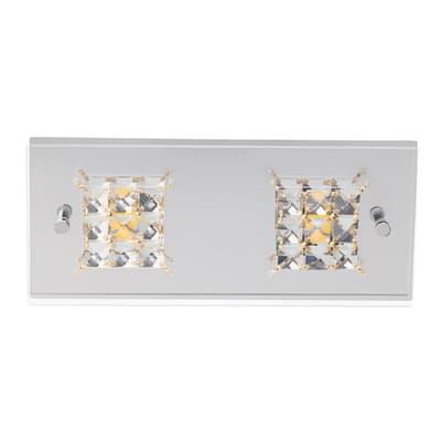 Plafoniera Martino cromo, in metallo, 14x28 cm, LED integrato 5W 420LM IP20 BRILLIANT