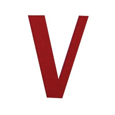 Lettera V adesivo, 7.5 x 5 cm
