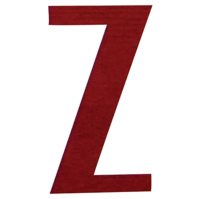 Lettera Z adesivo, 7.5 x 5 cm
