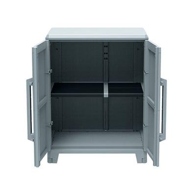 Armadio in resina Transforming L 78 x P 44 x H 102 cm grigio