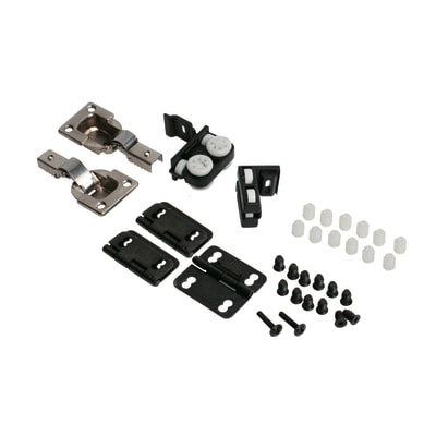 Kit montaggio per porta scorrevole Guarnitura 19 x 30 mm