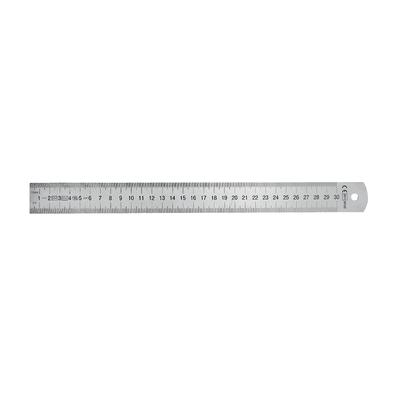 Righello quadrato in inox 100 x 3 cm
