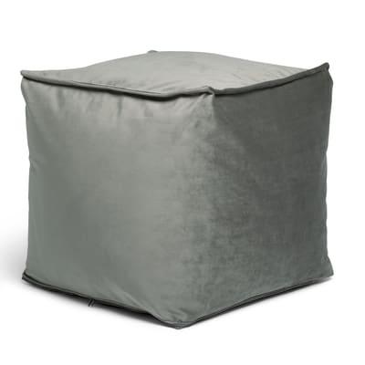 Pouf Viki grigio / argento 45x45cm