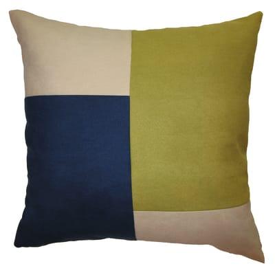 Cuscino grande Patchwork verde/blu 60x60 cm