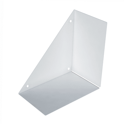 Mensola a L L 18 x P 18 cm, Sp 0.15 cm bianco