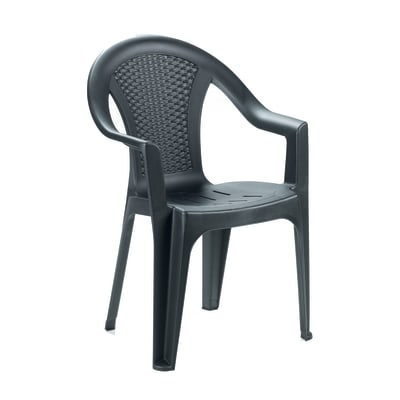 Sedia in polipropilene Ischia colore grigio antracite