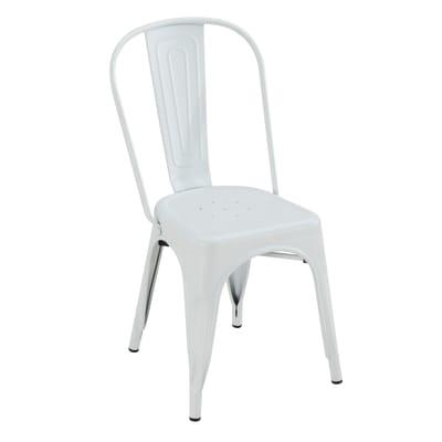 Sedia in acciaio Industrial colore bianco prezzi e offerte