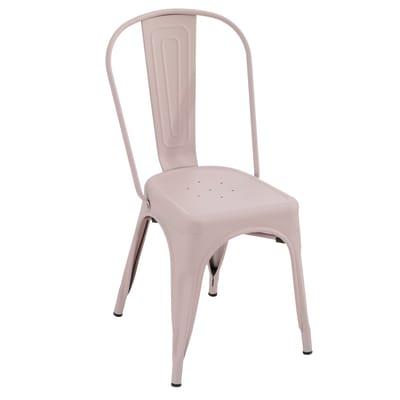 Sedia in acciaio Industrial colore rosa prezzi e offerte