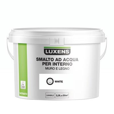 Vernice di finitura LUXENS Bimano base acqua bianco satinato 2.5 L