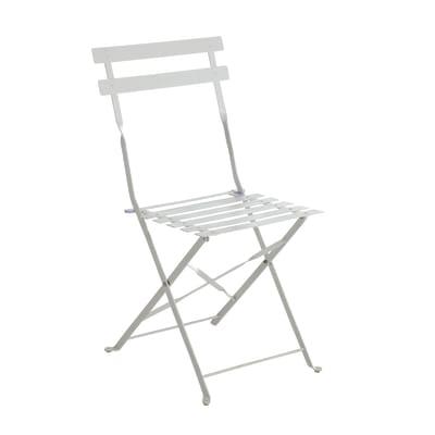 Sedia da giardino senza cuscino in acciaio Color colore bianco