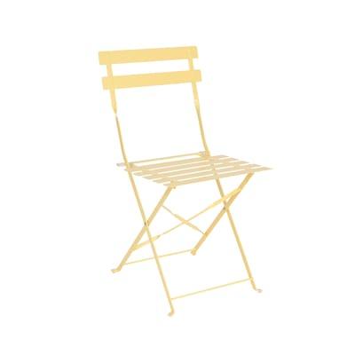 Sedia da giardino senza cuscino pieghevole Color colore giallo