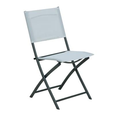 Sedia in acciaio Palma NATERIAL colore bianco