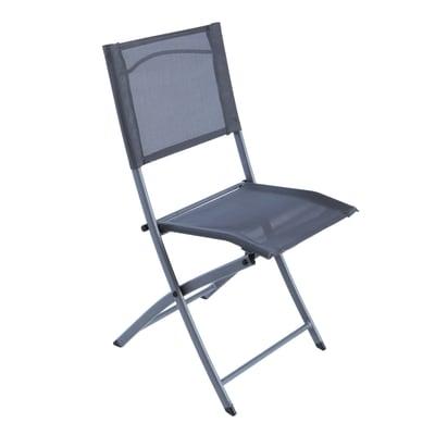 Sedia da giardino senza cuscino pieghevole Denver NATERIAL colore grigio