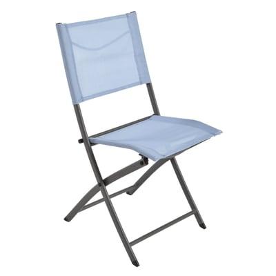 Sedia da giardino senza cuscino pieghevole Denver NATERIAL colore blu