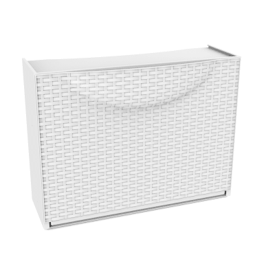 Scarpiera Harmony box 1 ante ribaltabile L 51 x H 39 x Sp 19 cm bianco