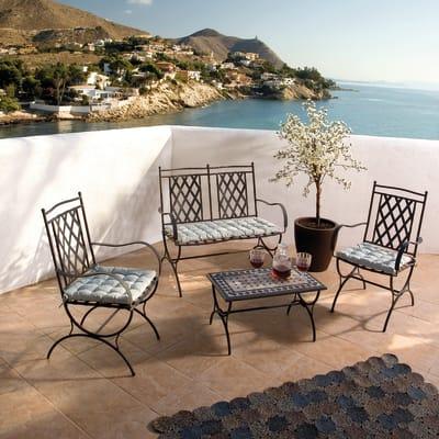 Sedia Maroc in ferro colore grigio antracite