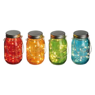 Barattolo 15 lampadine multicolore H 15 cm
