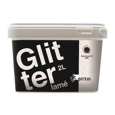 Pittura decorativa Glitter Lamé 2 l grigio dorato 6 effetto paillette