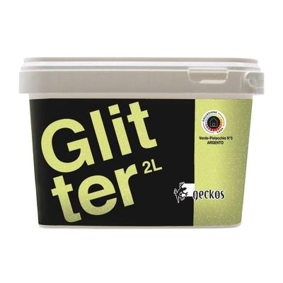 Pittura decorativa Glitter 2 l verde pistacchio 3 effetto paillette