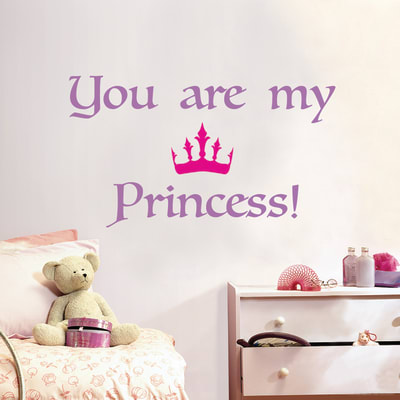 Sticker Princess 47.5x70 cm