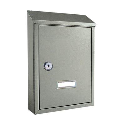 Cassetta postale formato Lettera, argento, L 21.5 x P 6.5 x H 30.5 cm