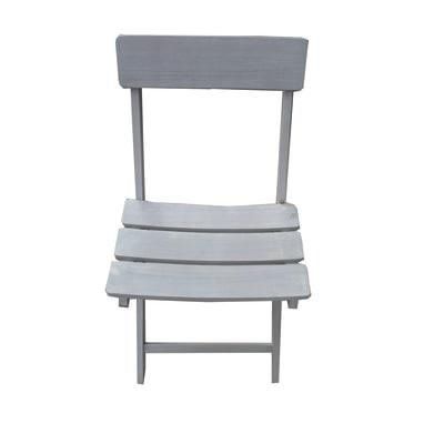 Sedia da giardino senza cuscino in legno Ostuni NATERIAL colore grigio