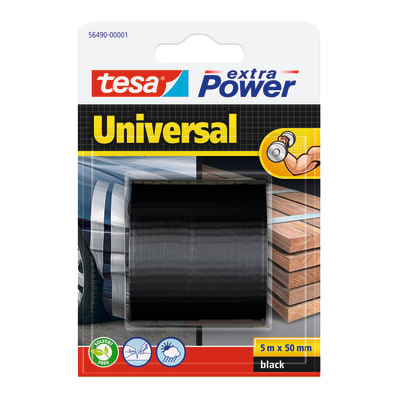 Nastro di riparazione TESA Extra Power 50 mm x 5 m nero