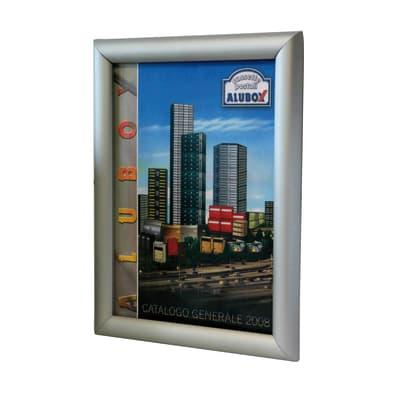 Bacheca Simplex1 4 ganci grigio / argento 260 x 350 mm x 2 cm