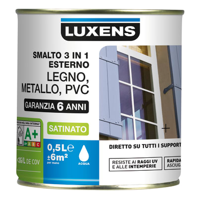 Smalto LUXENS Satinato base acqua giallo ruspa 0.5 L
