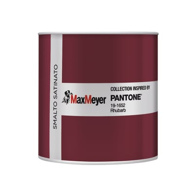 Smalto PANTONE base acqua rosso rhubarb 0.5 L