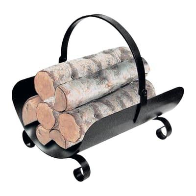 Porta legna da ardere Basket L 40x H45x P 32 cm