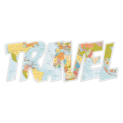 Sticker Travel 60x22 cm