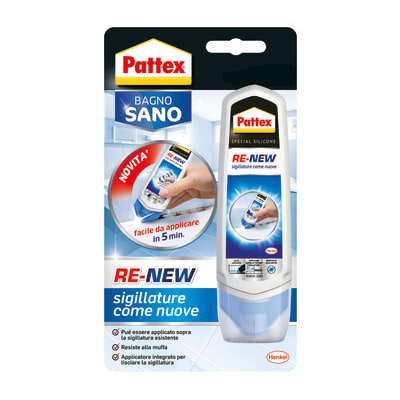 Silicone PATTEX Re-New bianco 100 ml